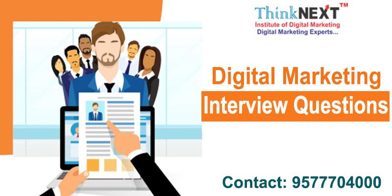 Digital marketing interview questions - TIDM